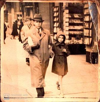 Max und Edith Verständig in Brüssel (1942)