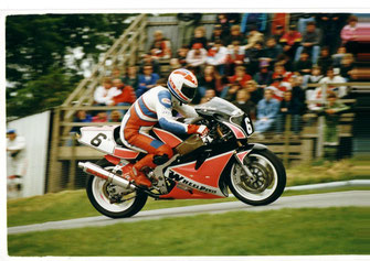 John cresting 'the mountain' on his ZX750