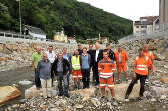 Baustellenfeier Hochwasserschutz Kremsfluss. © Stadt Krems.