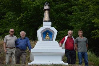 V.l.n.r.: Hermann Blaim, Leopold Doppler, Theodor Schwiegelhofer und Michael Doppler. Foto: WaPA