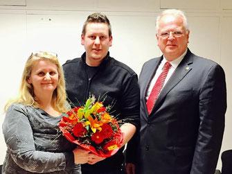 V.l.n.r.: DSAin Susanne Spillauer, Gemeinderat Thomas Jascha, Bürgermeister Dr. Reinhard Resch. Foto: zVg