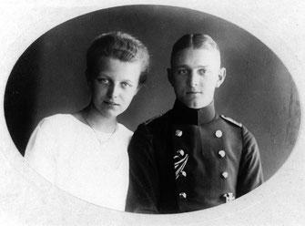 Friedrich Hoßbach mit seiner Frau Margarethe (geb. Jahns) 1920. Städtisches Museum Göttingen