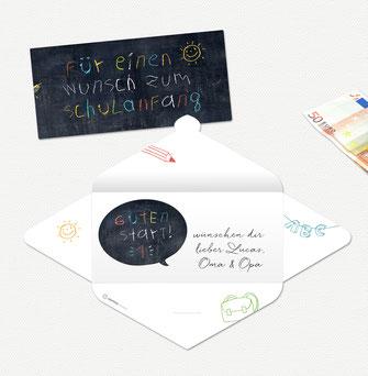 glückwunschkarte Einschulung schulking