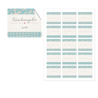 Etiketten japanpapier, blau, 50x59