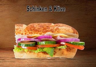 Sandwich mit Schinken und Käse