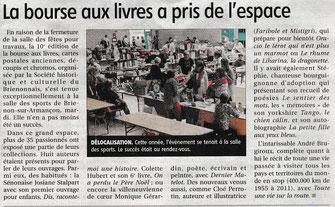 L'article de presse dans l'Yonne Républicaine de Juillet 2017 avec l'illustratrice auteur Cloé Perrotin