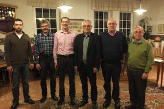 Vorstandswahlen 2014  v.l.n.r.: Tobias Schreiber, Theo Wilmer, Ingo Thüner, Paul Knierbein, Jürgen Sickau, Alfons Pöpsel