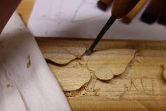 壁掛け カエル木彫