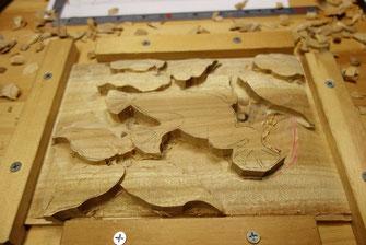 壁掛け木彫 カエル