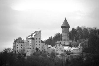 Burg Clam von Nord Osten