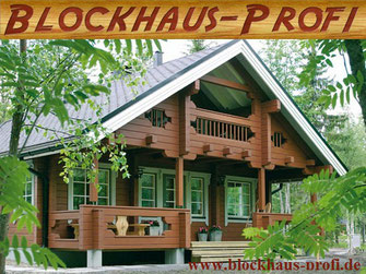 Winterfestes Ferienhaus mit Schlafboden - Blockhaus bauen
