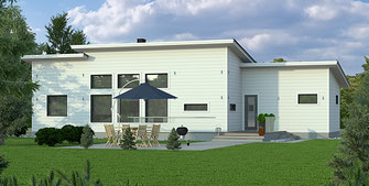 Holzhäuser in Blockbauweise - Planung und Montage - Architektenhaus - Stadthaus - Stadtvilla - Massivholzhaus - Wohnblockhaus - Bauträgerhäuser -Bauhausstil - Winkelbungalow - Energiesparhaus