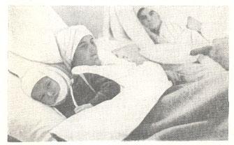 Preživjeli ranjenici u napadu na selo Koraj iz 1941., u bolnici u Tuzli.