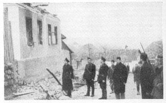 Selo Koraj nakon što su četnici i partizani 1941. uništili i spalili cijelo selo