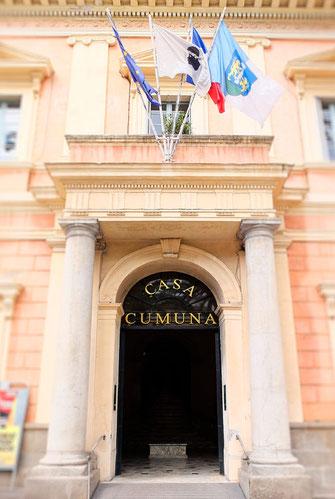 Premier signe visible de la prochaine semaine de la langue corse à l'hôtel de ville
