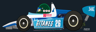 Jacques Laffite by Muneta & Cerracín - Ralt RT4, 1981
