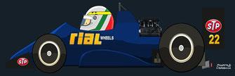 ANDREA de CESARIS by Muneta & Cerracín - Brabham BT56 - BMW L4 turbo