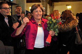Bessere Zeiten von Margret Kiener Nellen: Sie schafft 2011 die Wiederwahl in den Nationalrat.