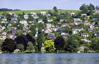 An teuren Standorten, etwa in Erlenbach am Zürichsee, kommt das Mieten eines Eigenheims tendenziell  günstiger zu stehen als das Kaufen.