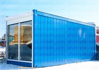 Блок-модуль с витриной Containex