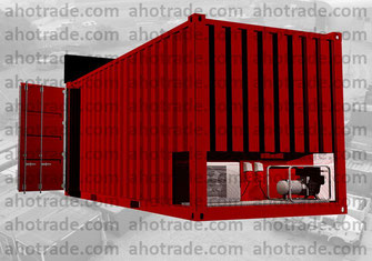 Морской контейнер с техническим отсеком