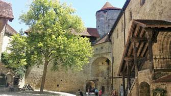 Burg Burghausen, Hauptburg, Dürnitz und Bergfried