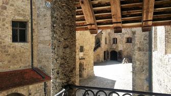 Burg Burghausen, Hauptburg, Blick von Kemenate auf Palas