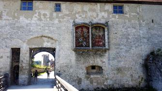 Wappen Georgs des Reichen und Hedwigs von Polen am Georgstor