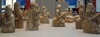 Lewis Chessmen im British Museum, London
