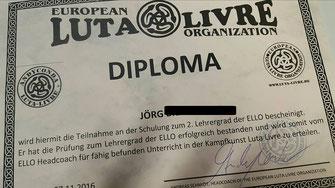 Andyconda Luta Livre - ELLO European Luta Livre Organisation - Lehrerschulung