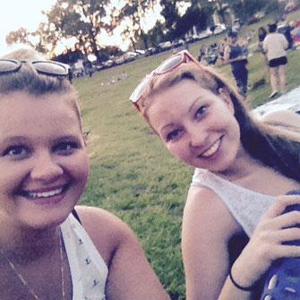 Josi und ich bei den Outdoor Movies