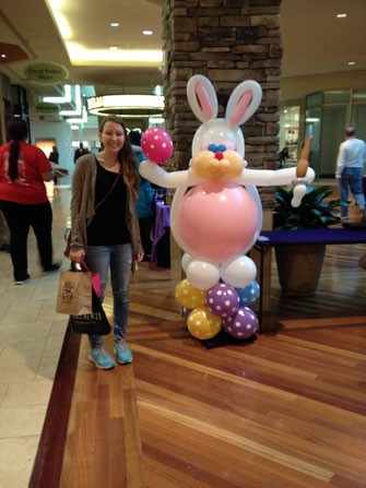 Luftballonhase in der Mall