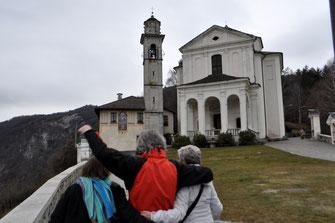 Mit den Gast-Eltern in San Madonna del Sasso