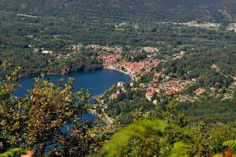 Blick auf Mergozzo vom Monte Castello