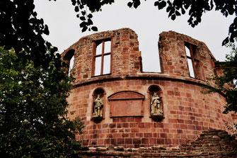 Außenmauer des Schloss Heidelberg