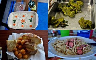 Eine Auswahl der feinen Speisen zum Feiertag