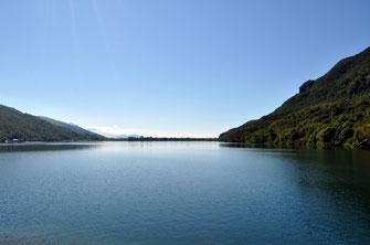 Blick auf den See von der gleichnamigen Stadt Mergozzo