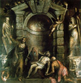 Pietà du Titien, ca 1575 ( il avait 87 ans),  Gallerie dell'Accademia de Venise