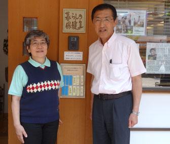 秋山正子さんと(2014年5月)