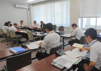 市民建産委員会の所管事務調査(8月9日)
