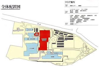 福岡東医療センターの全体配置図