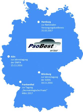 """Abbildung 1: """"PsoBest-on-Tour"""": Dezentrale Veranstaltungstermine ab November 2016 (Abbildungen: PsoBest)"""