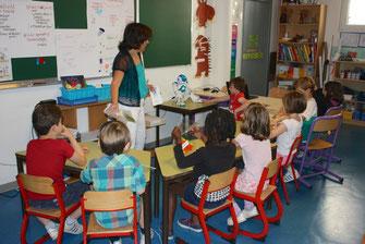 Un robot dans une classe