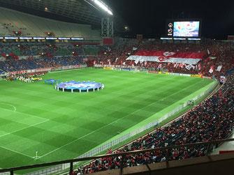 試合開始直前の埼スタです。