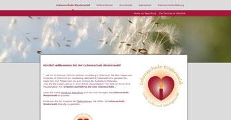 Website Lebensschule Westerwald