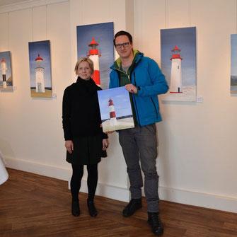 Überreichung in der Galerie an Meer an Herrn Dr. S. Werner