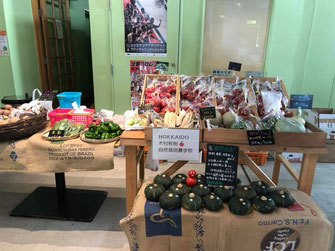 札幌市清田区にある就労継続支援B型事業所のプレマハウスでは三角山放送局でマルシェを開催