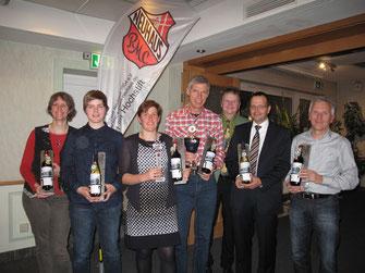 Von Links: Melanie Geiger, Fiona Schröder, Susanne Temme, Andreas Schonlau, Martin Klösener, Martin Simon und Willi Hoppe