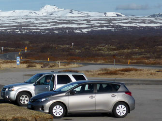 Our hire car in Iceland