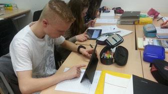 Surface-Tablets während der Testphase